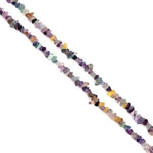 330cts Multi-Colour Fluorite Small Nuggets Chips Approx 2x5 - 5x11mm, 85cm Strand
