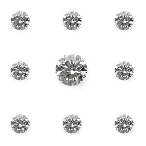3mm & 8 x 1.5mm, 0.22cts, VS1 - Brilliant Cut Rounds, Lab Grown Diamonds, Color G, set of 9