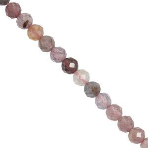 46cts Burmese Multi Spinel Faceted Rounds Approx 4mm 29cm Strand