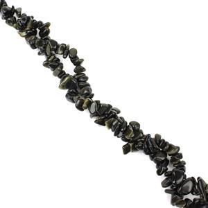 290cts Golden Obsidian Small Nuggets Approx 8x4mm, 84cm