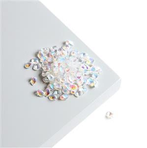 Czech Gekko Beads 3x5mm - Crystal AB (100pcs)