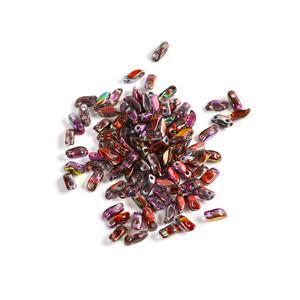 StormDuo Beads Crystal Magic Wine, Approx 3x7mm (100pcs)