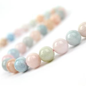 280cts Multi-Colour Beryl Plain Rounds Approx 10mm, 38cm