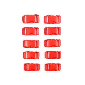 Red Plastic Buckle, 11x14mm (10pk)