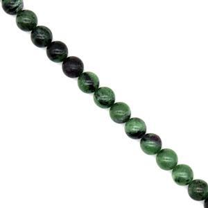 300cts Ruby Zoisite Plain Rounds Approx 10mm, 38cm Strand