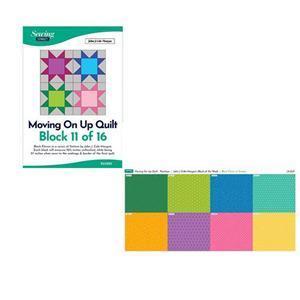 John Cole-Morgan's BOW Block 11: Rainbow 'Moving on Up' Quilt Kit: Instructions & Panel