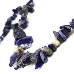 300cts Sodalite Long Chips Approx 6x20-9x28mm, 38cm Strand