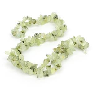 300cts Prehnite Small Nuggets Approx 3x5 - 6x9mm, 84cm Strand