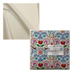 Maya Rose Petals Quilt Bundle: Charm Pack (42pcs) & Fabric (1.5m)