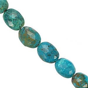 49cts Chrysocolla Faceted Oval Approx 8x6mm to 12x9mm 20cm Strand