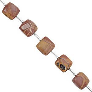 65cts Noreena Jasper Graduated Plain Cushion Approx 8 to 12.5mm, 16cm Strand with Spacer