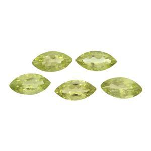 2.40cts Red Dragon Peridot Marquise Brilliant 8x4mm (N) (Pack of 5)