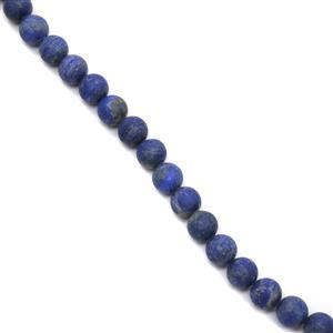 300cts Lapis Lazuli Matt Finish Frosted Rounds Approx 10mm, 38cm Strand