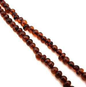 Baltic Cherry Amber Nugget Beads Approx 4x5 - 6x5mm, 38cm Strand
