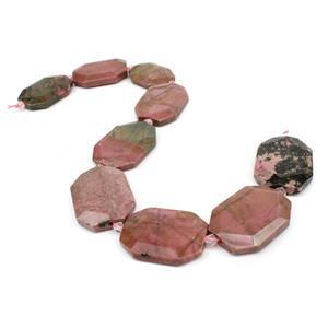 1,100cts Rhodonite Faceted Slabs Approx 30x40mm, 38cm