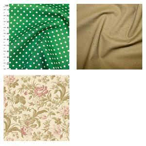 Wildflower Woods Cream Floral Cosmetics Bag Fabric Bundle (1.5m)
