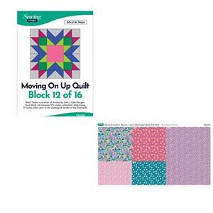 John Cole-Morgan's BOW Block 12: Blossom 'Moving on Up' Quilt Kit: Instructions & Panel