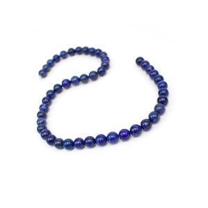 200cts Natural Colour Lapis Lazuli Plain Rounds Approx 8mm, 38cm