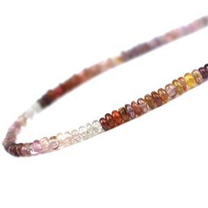40cts Multi-Colour Spinel Smooth Rondelles Approx 3x2 to 4x3mm, 30cm