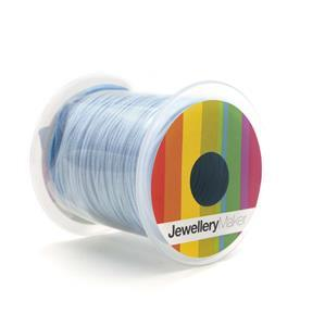 Sky Blue Woven Nylon Cord, 1mm, 30m Spool