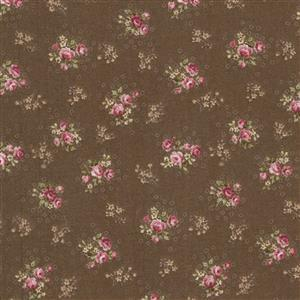 Trachten Rosen Brown Fabric 0.5m