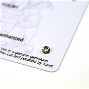 0.15cts Imperial Topaz 4x4mm Round  (N)