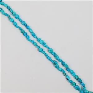 470cts Blue Howlite Nuggets Approx 5x6 tp 7x10mm, 140cm Endless Necklace