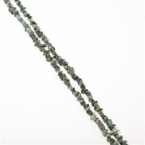 "220cts Sakota Emerald Small Chips Approx 2x4 to 5x9mm, 32-34"" Strand"