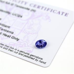 0.95cts  Tanzanite 8x6mm Oval  (H)
