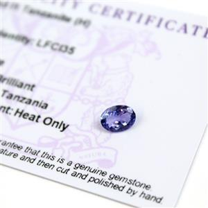 0.9cts  Tanzanite 8x6mm Oval  (H)