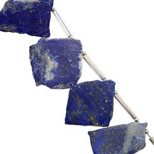 44cts Lapis Lazuli Plain Flat Fancy Approx 14x11.6mm to 27x18mm 11cm Strand
