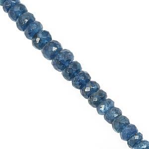 40cts Neon Apatite Graduated Faceted Rondelle Approx 3x1.5 to 6x4mm, 20cm Strand