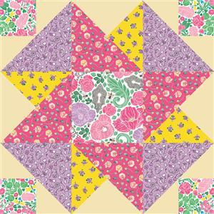 John Cole-Morgan's BOW Block 7: Blossom 'Moving on Up' Quilt Kit: Instructions & Panel