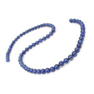 90cts Natural Colour Lapis Lazuli Plain Rounds Approx 6mm, 38cm
