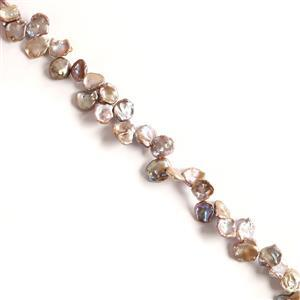 Lilac Freshwater Cultured Keshi Pearls Approx 13x14 to 15x19mm, 38cm strand