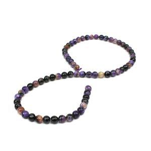 110cts Charoite Plain Rounds Approx 6mm, 38cm Strand