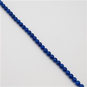 280cts Lapis Blue Quartzite Plain Round Approx 10mm, 38cm Loose Strands