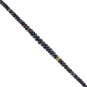 Black Ethiopian Opal Gemstone Strands