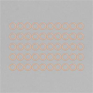 Rose Gold Plated Copper Hollow Open Jump Rings - 16mm & Thickness 2mm (RSOK70)