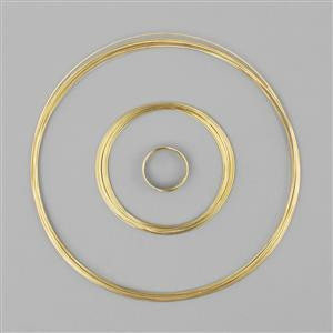 Memory Wire Pack- Gold Colour, Memory Wire,