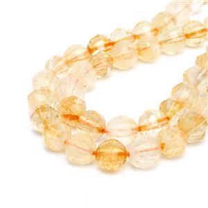 150cts Citrine Pumpkin Style Faceted Rounds Approx 8mm, 38cm