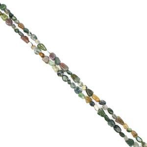 """360cts Fancy Jasper Nuggets Approx 5x8mm, 60"""" Endless Necklace"""