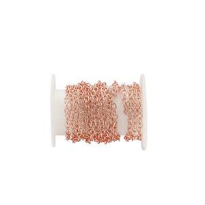 Rose Gold Plated Base Metal Cable Chain, Approx. 2.80x2mm (1m)