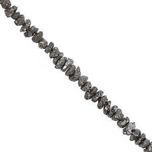 10cts Black Diamond Chips Nugget Approx 1.20 to 2.20mm, 21cm Strand