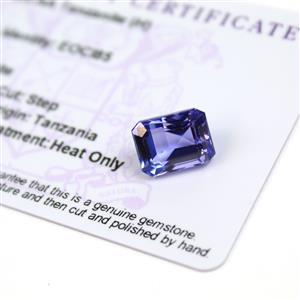 7.75cts  Tanzanite 12x9.25mm Octagon  (H)
