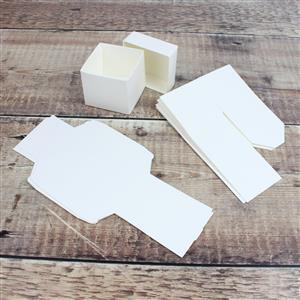 White Silk Box & Lid 50mm 5pk