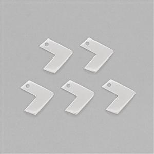 Silver Plated Brass Arrow Shape Stamping Blank Approx 28x10mm & Thickness Approx 2mm (5pcs)