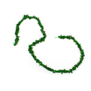 60cts Diopside Small Chips Approx 2x4 - 3x9mm, 38cm Strand