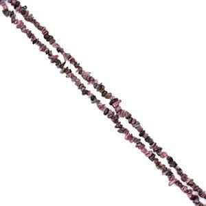 """330cts Rhodonite Small Nuggets Approx 4x8mm, 32"""" Strand"""