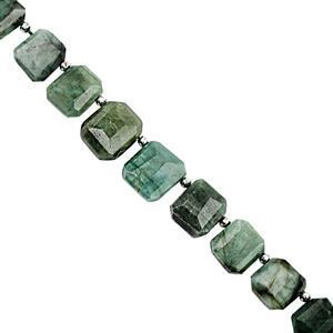 130cts Emerald Faceted Nuggets Approx 8x7 to 17x14mm, 20cm Strand with Spacers